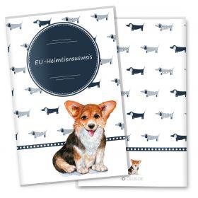 Heimtierausweis Hülle für den Hund Taksa (Corgi, ohne Personalisierung)