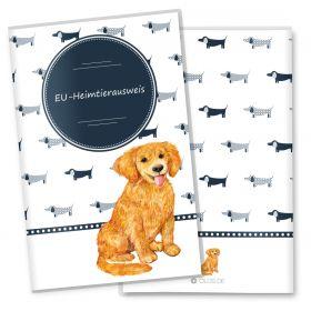 Heimtierausweis Hülle für den Hund Taksa (Golden Retriever, ohne Personalisierung)