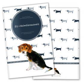 Heimtierausweis Hülle für den Hund Taksa (Beagle, ohne Personalisierung)
