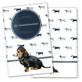 Heimtierausweis Hülle für den Hund Taksa (Dackel, ohne Personalisierung)