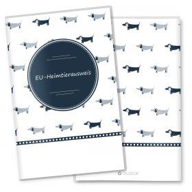 Heimtierausweis Hülle für den Hund Taksa (ohne Motiv, ohne Personalisierung)