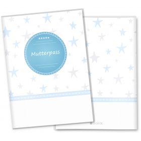 Mutterpasshülle 3-teilig Sterne (Stern Blau, ohne Personalisierung)
