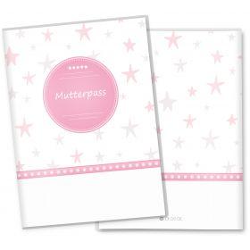 Mutterpasshülle 3-teilig Sterne (Stern Rosa, ohne Personalisierung)