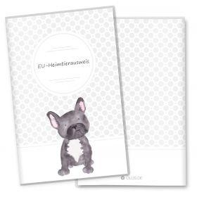 Heimtierausweis Hülle für den Hund Bulldog (Lennox, ohne Personalisierung)
