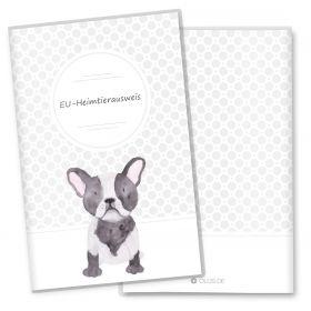 Heimtierausweis Hülle für den Hund Bulldog (Gin, ohne Personalisierung)