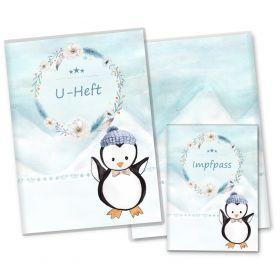 U-Heft Hülle SET Nordpol (Pinguin, ohne Personalisierung)