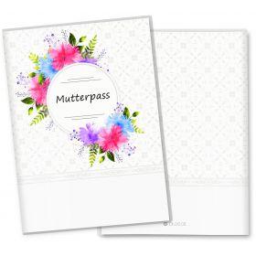 Mutterpasshülle 3-teilig Blumenkranz (Chrysanthemen, ohne Personalisierung)