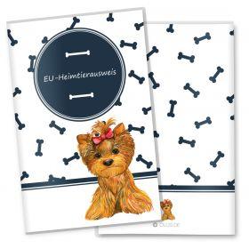 EU-Heimtierausweis Schutzhülle Bone (Yorkshire Terrier, ohne Personalisierung)