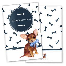 EU-Heimtierausweis Schutzhülle Bone (Toy Terrier, ohne Personalisierung)