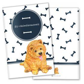 EU-Heimtierausweis Schutzhülle Bone (Chow-Chow, ohne Personalisierung)
