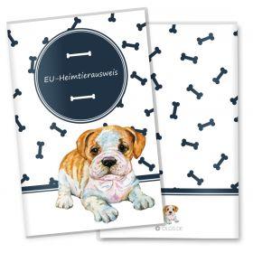 EU-Heimtierausweis Schutzhülle Bone (Englische Bulldogge, ohne Personalisierung)