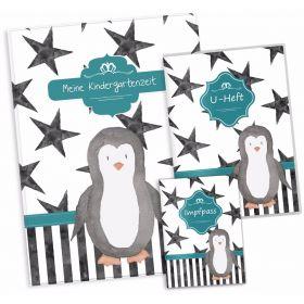 """Geschenkset Creative Royal Pinguin U-Heft Hülle Impfpasshülle Sammelmappe """"Meine Kindergartenzeit"""" Geschenkidee (10 Hüllen/20 Seiten A4)"""