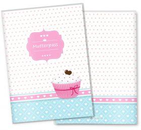 Mutterpasshülle / Mutter-Kind-Pass Hülle 3-teilig Cupcakes Motive