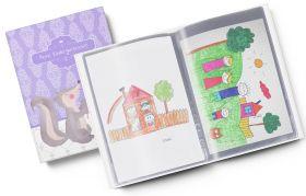 Sammelmappe Meine Kindergartenzeit Seifenblasen Stinktier Mädchen Geschenkidee Kindergeburtstag (10/20 Hüllen A4)