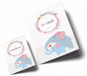 U-Heft Hülle SET Mommy Love Dots