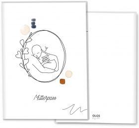 Mutterpasshülle / Mutter-Kind-Pass Hülle 3-teilig Modern Lineart