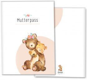 Mutterpasshülle / Mutter-Kind-Pass Hülle 3-teilig Hab dich lieb