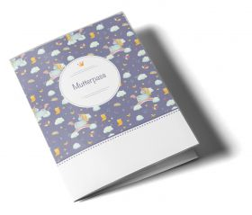Mutterpasshülle / Mutter-Kind-Pass Hülle 3-teilig Unicorn Dreams