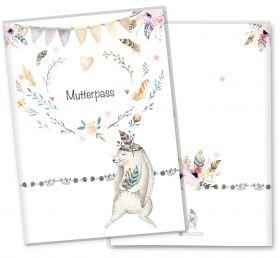 Mutterpasshülle / Mutter-Kind-Pass Hülle 3-teilig Boho Freunde
