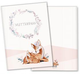 Mutterpasshülle / Mutter-Kind-Pass Hülle 3-teilig Rehkitz